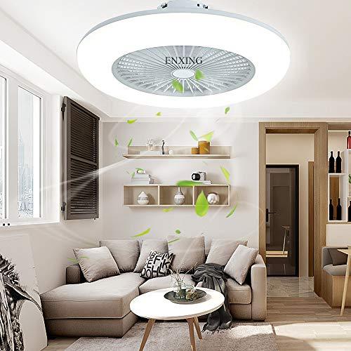 Fan Deckenlampe Deckenventilator Dimmbar Fan Kreative Deckenleuchte Fan Licht Mit Beleuchtung Und Fernbedienung LED Runde Modern Ventilatorlicht Pendelleuchte Für Wohnzimmer Esszimmer Schlafzimmer