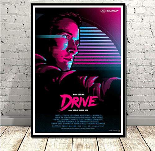 MZCYL Leinwand Malerei Wandkunst Bild Ryan Gosling Movie Drive Poster Drucken Leinwand Malerei Geschenk Ohne Rahmen 40 * 60 cm