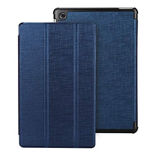 Eastcoo Kompatibel Huawei Mediapad M5 Lite Hülle 10,1 Zoll, Schutzhülle Hülle mit Auto Schlaf/Wach Magnetverschluss Book Cover (Blau)