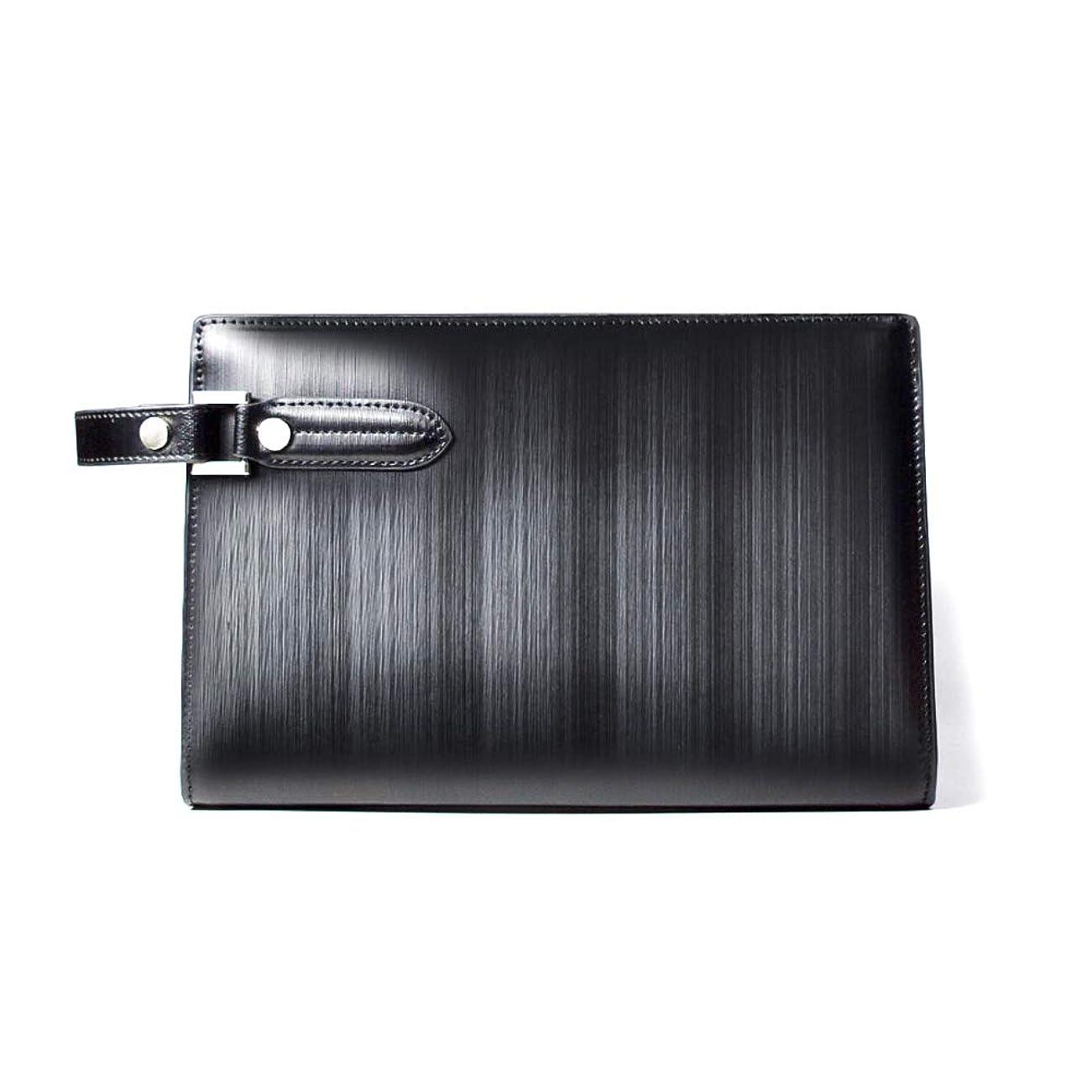 観点ヒップ粒子LANZA (ランザ) セカンドバッグ ストリシアレザー [ ブラック ] バッグ 鞄 イタリア製