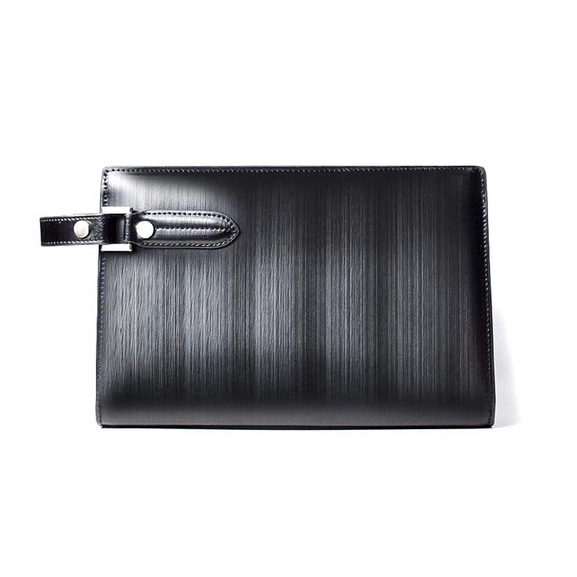 本物の領事館小さいLANZA (ランザ) セカンドバッグ ストリシアレザー [ ブラック ] バッグ 鞄 イタリア製