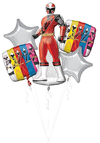 Anagram BOUQUET POWER RANGER NINJA STEEL, One size, Red
