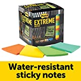 Post-it Extreme Notes, Stop Re-work on the Job, Works in 0 - 120 degrees Fahrenheit, 100X the holding power, Green, Orange, Mint, Yellow, 3 in x 3 in, 12 Pads/Pack, 45 Sheets/Pad