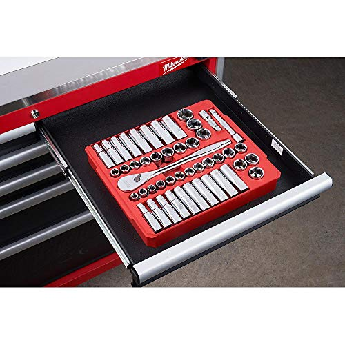 Milwaukee 48-22-9010 47-Piece SAE and Metric 1/2 inch Drive Ratchet and Socket Set