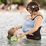 Beachfront Baby - Versatile Water & Warm Weather Ring Sling Baby Carrier | Made in USA with Safety Tested Fabric & Aluminum Rings | Lightweight, Quick Dry & Breathable (Sky Blue, One Size)