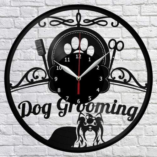 Dog Grooming Salon Reloj de Pared de...