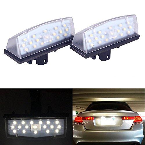 PolarLander 2 Pcs Voiture LED Plaque D'immatriculation Lumières 12V SMD3528 LED Numéro Plaque Ampoule Kit