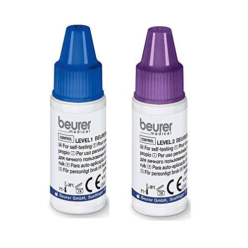 Kontrolllösung für Blutzuckermessgeräte GL40, 2x 4 ml Flaschen