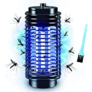 Bug Zapper, Electric Bug Zapper, Bug Zapper Indoor and Outdoor, Powerful Electric Mosquito Killer, Fly Zapper with Blue Lights Mosquito Lamp for Home, Garden, Backyard, Patio