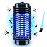 Bug Zapper, Electric Bug Zapper, Bug Zapper Indoor and Outdoor, Powerful Electric Mosquito Killer, Fly Zapper with Blue Lights Mosquito Lamp for Home, Backyard, Garden, Patio