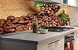 DIMEX LINE Küchenrückwand Folie selbstklebend KAFFE | Klebefolie - Dekofolie - Spritzschutz für Küche | Premium QUALITÄT - Made in EU | 180 cm x 60 cm