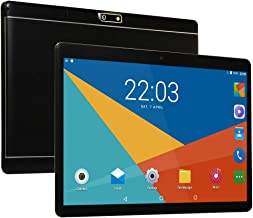$89 » Chenen10 inch Android Tablet PC,5G Wi-Fi,4GB RAM,64GB ROM,Octa -Core Processor, IPS HD Display,3G Phablet with Dual Sim Card Slots,Bluetooth,GPS, Tablets for Kids,P1 (Black)