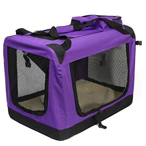 TYXL life in the doghouse Jaula for perros, Bolsa de viaje plegable for mascotas Coche Oxford Tela Bolsa for transportar bolsa de transporte Fuerte y suave Cajón Portador Carpa for perros Jaula plegab