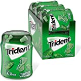 Trident Unwrapped Spearmint Sugar Free Gum, 6 Bottles of 50 Pieces (350 Total Pieces)