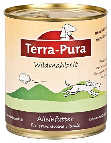 Terra Pura Hundefutter Wildmahlzeit 800 g Glutenfrei, 6er Pack (6 x 800 g)