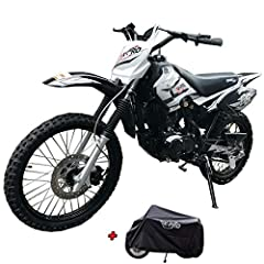 150cc Dirtbike brought by Moto Pro.Every packsge come with X-PRO Dust Cover. Comes with 149cc 4-Stroke Engine that has a 55 MPH speed capability. The 4-Stroke engine ensures that no confusing fluid mixing will be required, just gas it up and start ri...
