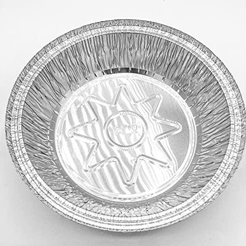 ENpack Aluminiumschale mit Deckel 770L - Aluminium Menüschale - Runde Form mit 770ml - Alu Form für Lebensmittel - Grillschalen - Einwegverpackungen - Einmalbehälter für Pasta/Nudeln(100 Stück)