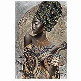 Cuadros Decorativos Carteles e impresiones de lienzo impresos artísticos con grafiti de mujeres negras africanas abstractas e impresiones artísticas de pared para chicas africanas imagen 60X90CM