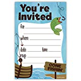 Fishing Party Invitations (20 Count) With Envelopes