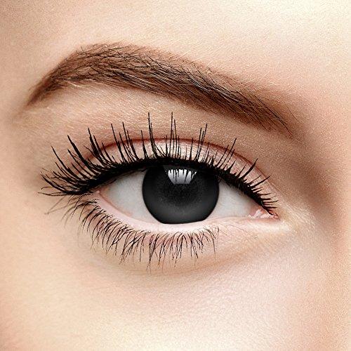 Chromaview Halloween Farbige Kontaktlinsen Ohne Stärke Blackout Schwarz (Tageslinsen)