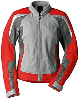 BMW Genuine Motorcycle Riding Women'S Airflow Jacket EU-40  USA-10 Gray / Red