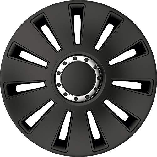 kh Teile Radkappen 17 Zoll Silverstone Pro Black schwarz 17' 1-Fach lackiert mit Chromring Radzierblenden 4er Set...