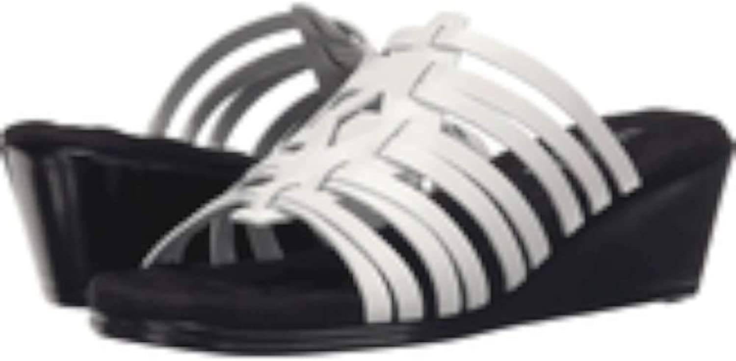 Walking Cradles Womens Nelson Open Toe Casual Strappy, White Soft, Size 6.0