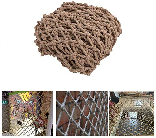 Protective net decoratie / binnenplafond kabelnet hennep touw muur decoratie rooster scheidingswand gordijn trappen beschermrooster cabine retro decoratie dikte 6 mm / rasterafstand 15 cm grootte kan aangepast worden