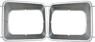 Headlight Bezel Plastic Gray Pair - Driver & Passenger Side (Fits: 95-05 Freightliner FL50, 91-04 FL60, 91-05 FL70, 91-05 FL80, and 94-03 FL106)