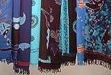 Sarong HANDPAINTING Damen, diverse Muster: Pareo/Hüfttuch, Blau One size