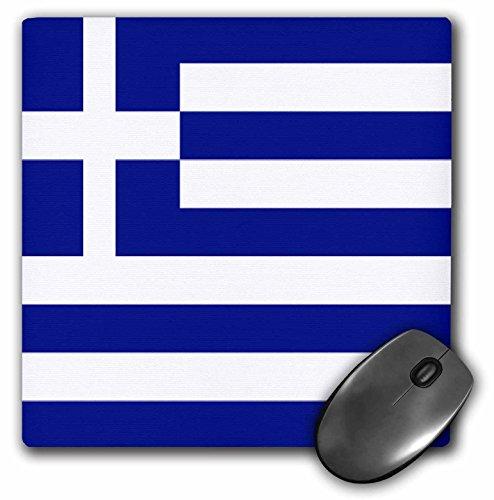 3drose LLC 20,3 x 20,3 x 0,6 cm Griekse vlag muismat (MP 4562 1)