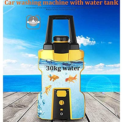 Portable High Pressure Washer Cleaner Car Washer Jets Large Capacity 30kg Water Tank For Home, Garden And Vehicles,F dljyy (Color : F) from dljxx