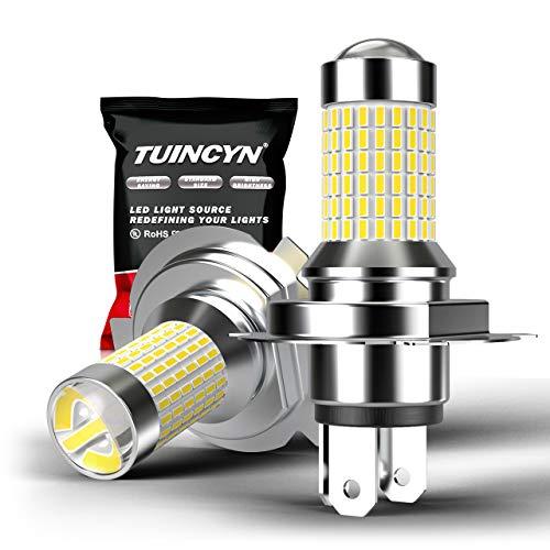 TUINCYN H4 9003 HB2 a mené l'ampoule antibrouillard Xenon blanc 6000K 3014-144SMD lumineux DRL Feux diurne DC 12V-24V (paquet de 2)