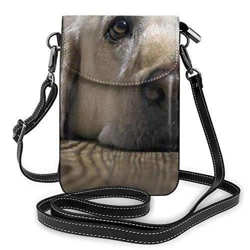 Bolso ligero del teléfono celular del cuero de la PU, bolso pequeño del bolso del hombro del perro del labrador del bolso del bolso del bolso del bolso de la mano de la mano de la mano