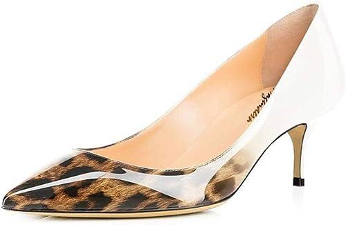 Maguidern , Sandales Compensées Femme - - Beige Leopard, 43