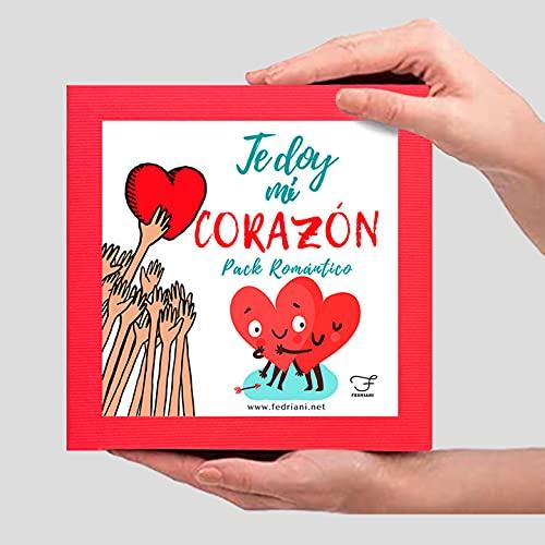 fedriani Regalo Parejas Te doy mi Corazon.💓 Pack romántico💓 Original, Novio, Novia, Aniversarios
