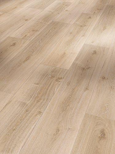 Parador Klick Vinyl Bodenbelag Basic 30 Eiche Royal hell gekälkt Landhausdiele Holzstruktur 1,825m², hochwertige Holzoptik hell braun 9,4mm, einfache Verlegung