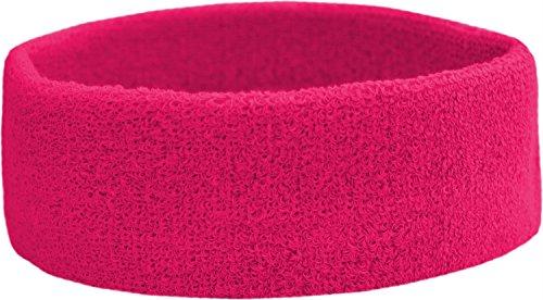 Terry Headband - Frottee Stirnband für Sport & Freizeit Farbe Pink
