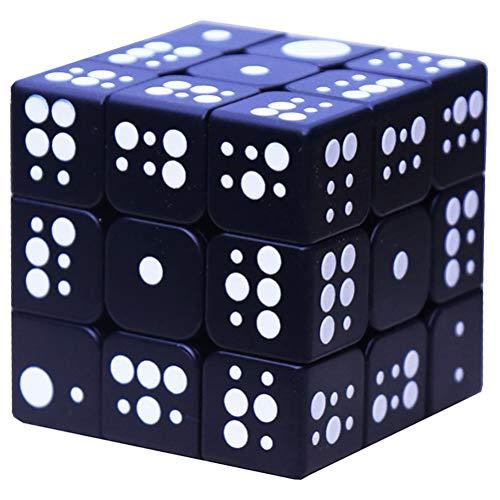 PPu Speed Cube für Blinde, 3D Braille Fingerabdruck Stereo Rubiks Cube 3x3 Geprägte Persönlichkeit Kinder Puzzle-Pandora Box,B