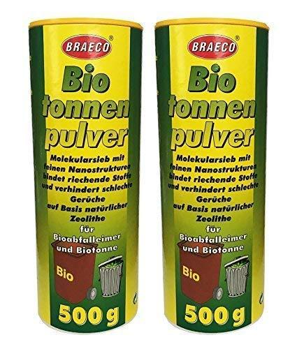 Prijs 2 x 500g biobak poeder vuilnisemmer poeder, Preventief tegen maden afval