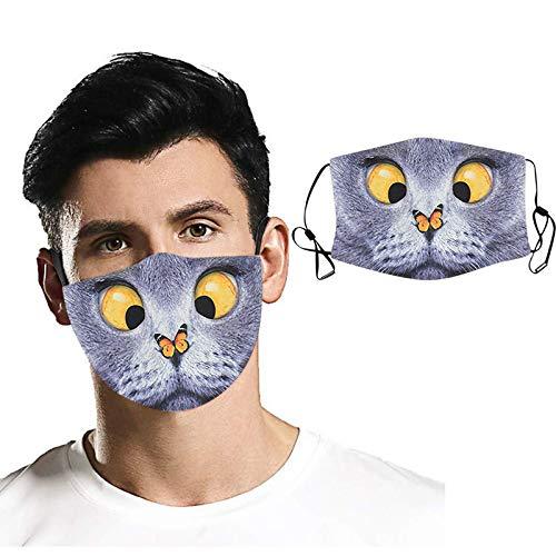 ATRISE 5 Stück und 10 Ersatz-Gesichtsabdeckung, staubdicht, winddicht, Nebel Haze Maske für Staub, Sonne, Wind, Radfahren, Maske - mehrfarbig - Einheitsgröße