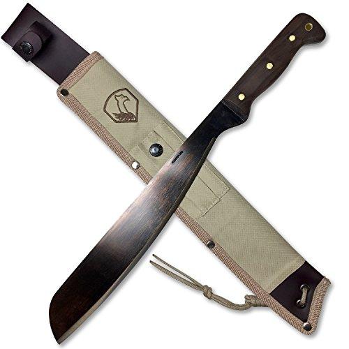 Condor Tool & Knife, Australian Army Machete, 12-7/8in Blade, Walnut Handle with Sheath