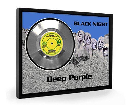 Deep Purple Black Night Framed Disco plata Display Vinyl (C1)