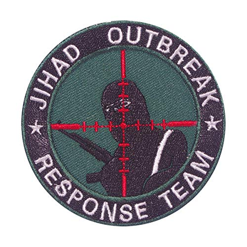 Cobra Tactical Solutions - JIHAD OUTBREAK RESPONSE TEAM Patch verde con Cierre de Velcro para Airsoft, Paintball, Ropa táctica y Mochila