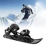 ALUNYAN Mini zapatos de nieve mini patines de esquí cortos para nieve quitanieves,zapatos de nieve ajustables, zapatos de nieve ligeros,para exteriores tabla de esquí antideslizantespaneles de pie