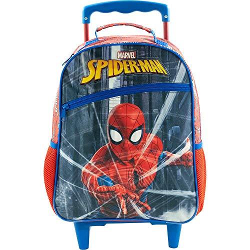 Mala Escolar com Rodas 16, Marvel Homem Aranha, 8660, Vermelha
