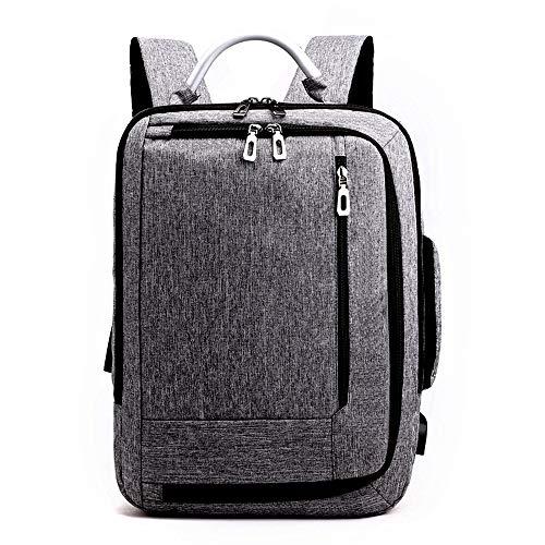 CHARON Travel laptop rugzak, business rugzak tas met USB opladen poort, slanke draagbare laptop tas, waterdichte school rugzak dames mannen, geschikt voor laptops Chroom