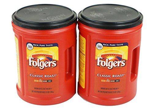 Folgers Coffee, Classic Roast, 48 Ounce, 2 Pack