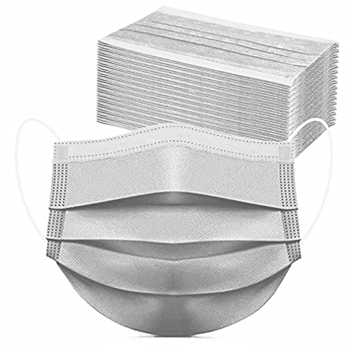Face Mask of 100 Pcs Disposable Paper Masks Mouth Cover Gray