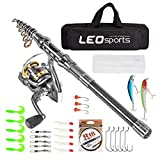 Best Compact Fishing Rod And Reels - Leo Telescopic Fishing Rod and Reel Combos Review
